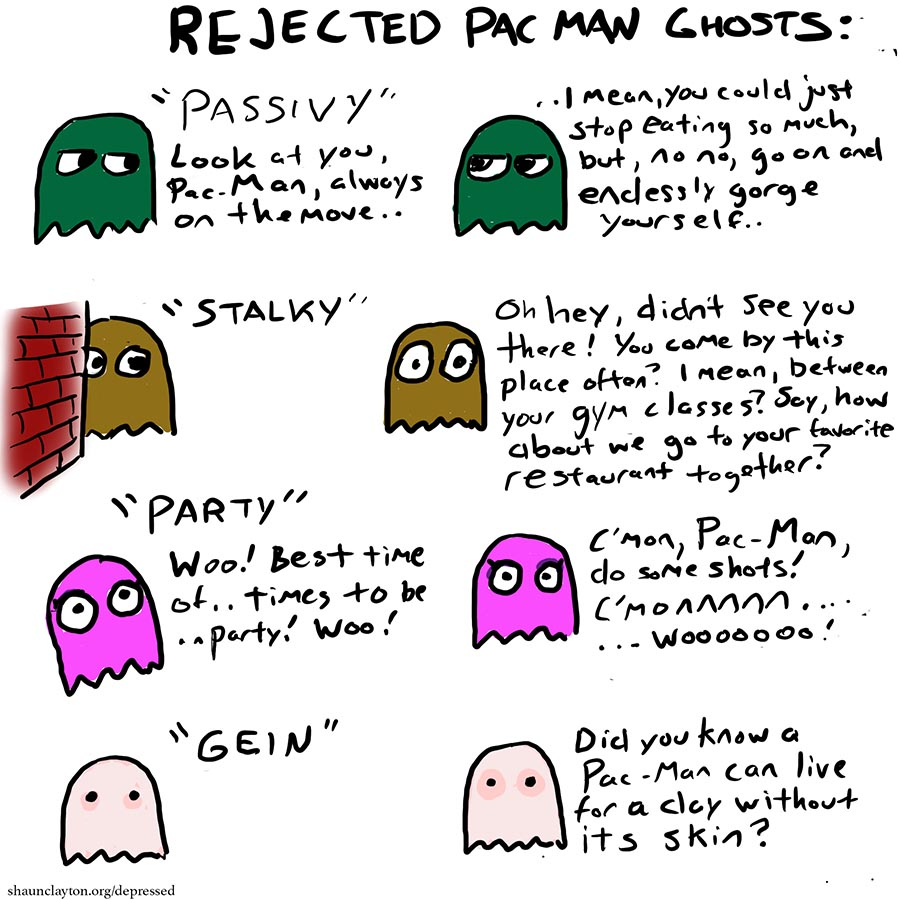 Rejected Pac-Man Ghosts